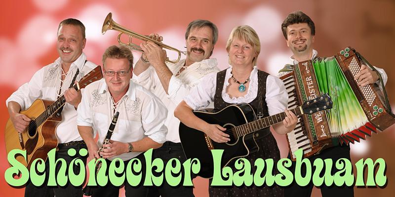Schönecker Lausbuam mit zünftiger Musik im Oberkrainer Stil